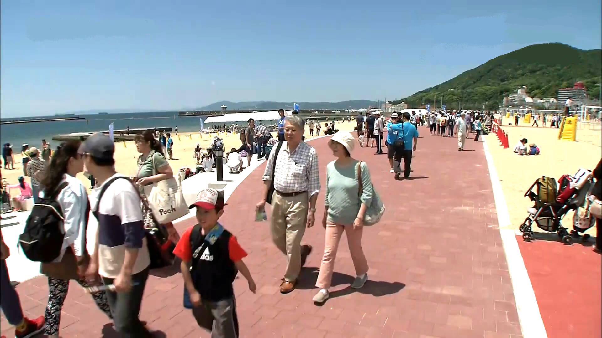 須磨海岸(須磨海水浴場)・須磨ビーチの遊歩道