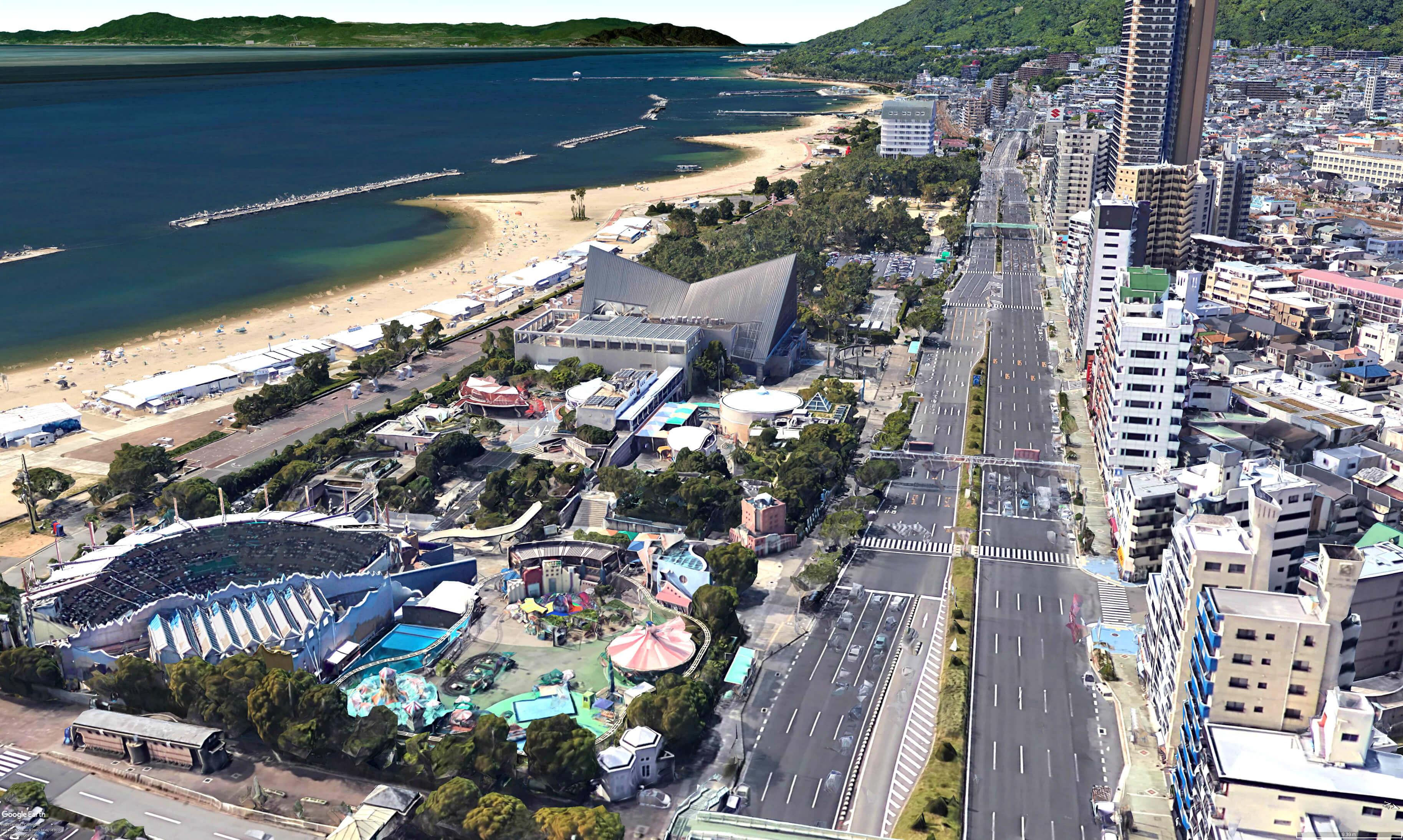須磨海水浴場(須磨海岸・須磨ビーチ)と須磨海浜水族園