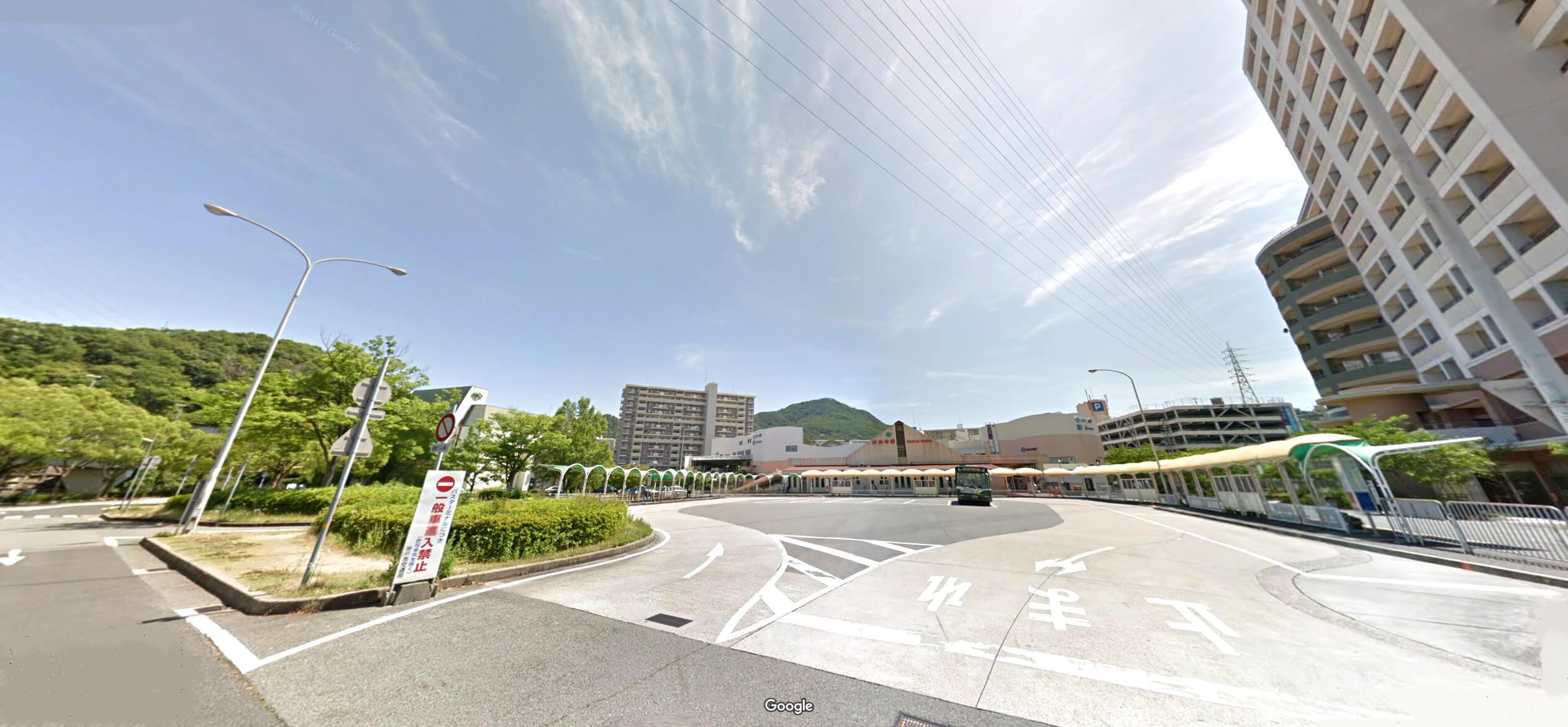 神戸市須磨区の妙法寺駅前
