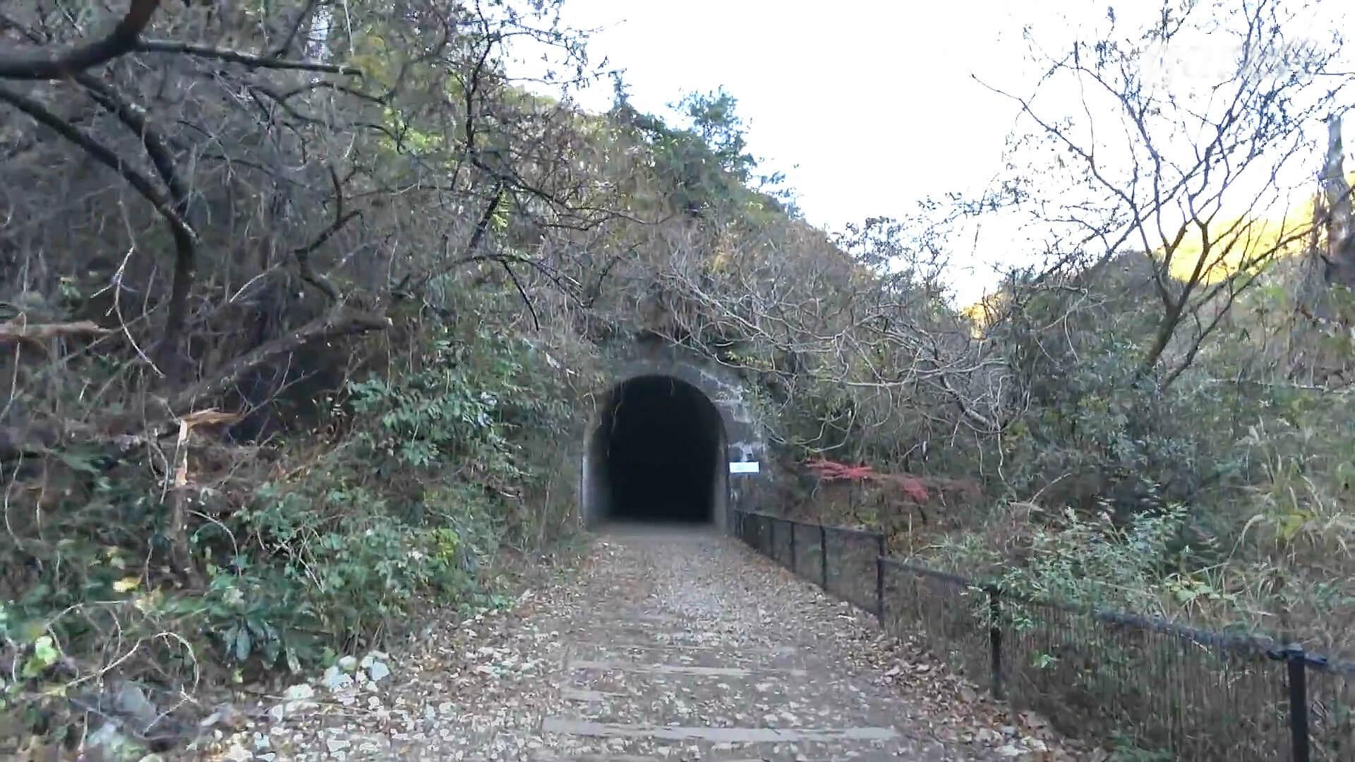 武田尾廃線敷の北山第二トンネル入口