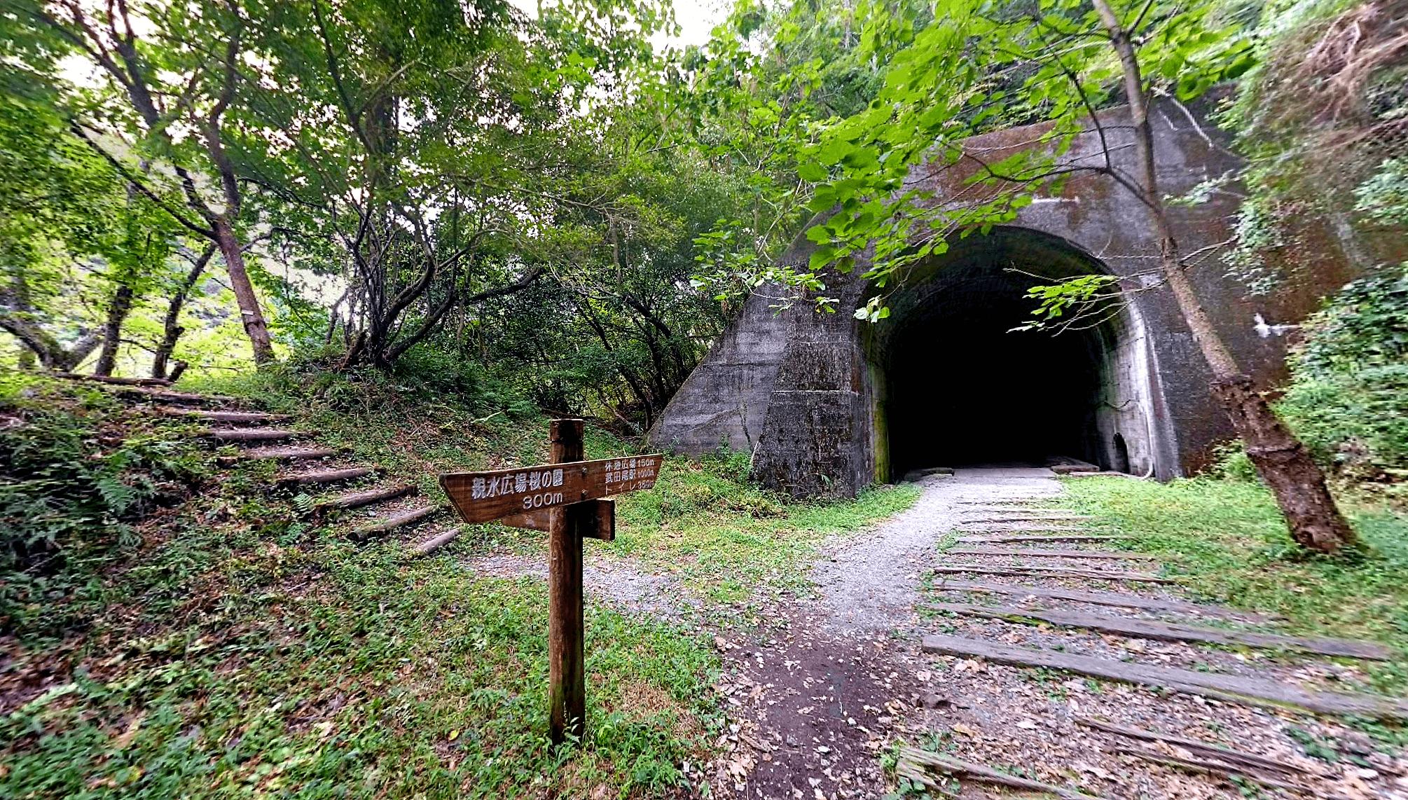 武田尾廃線敷の長尾山第3トンネル入口