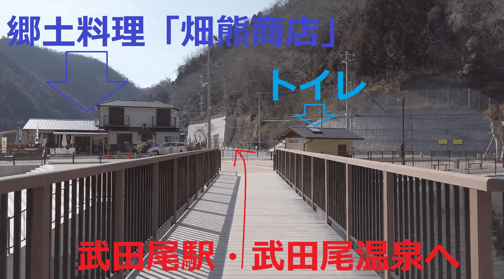 武田尾廃線敷の入口(スタート)と出口(ゴール)